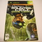 Manual ONLY ~  for Tom Clancy&#39;s Splinter Cell Chaos Theory    Xbox