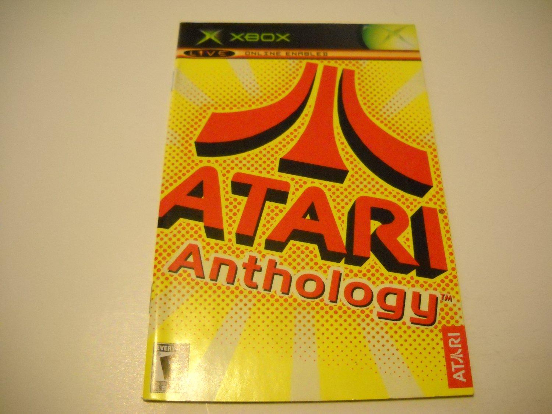 Manual ONLY ~  for Atari Anthology   Xbox