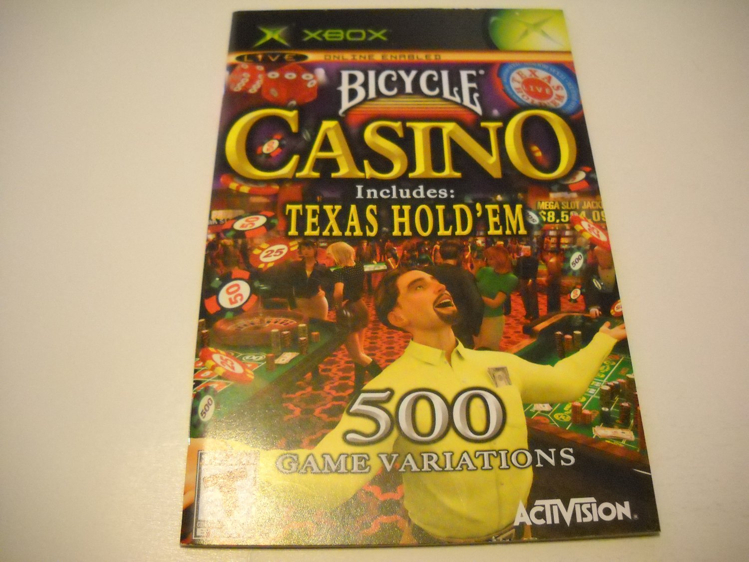 Manual ONLY ~  for Bicycle Casino   Xbox