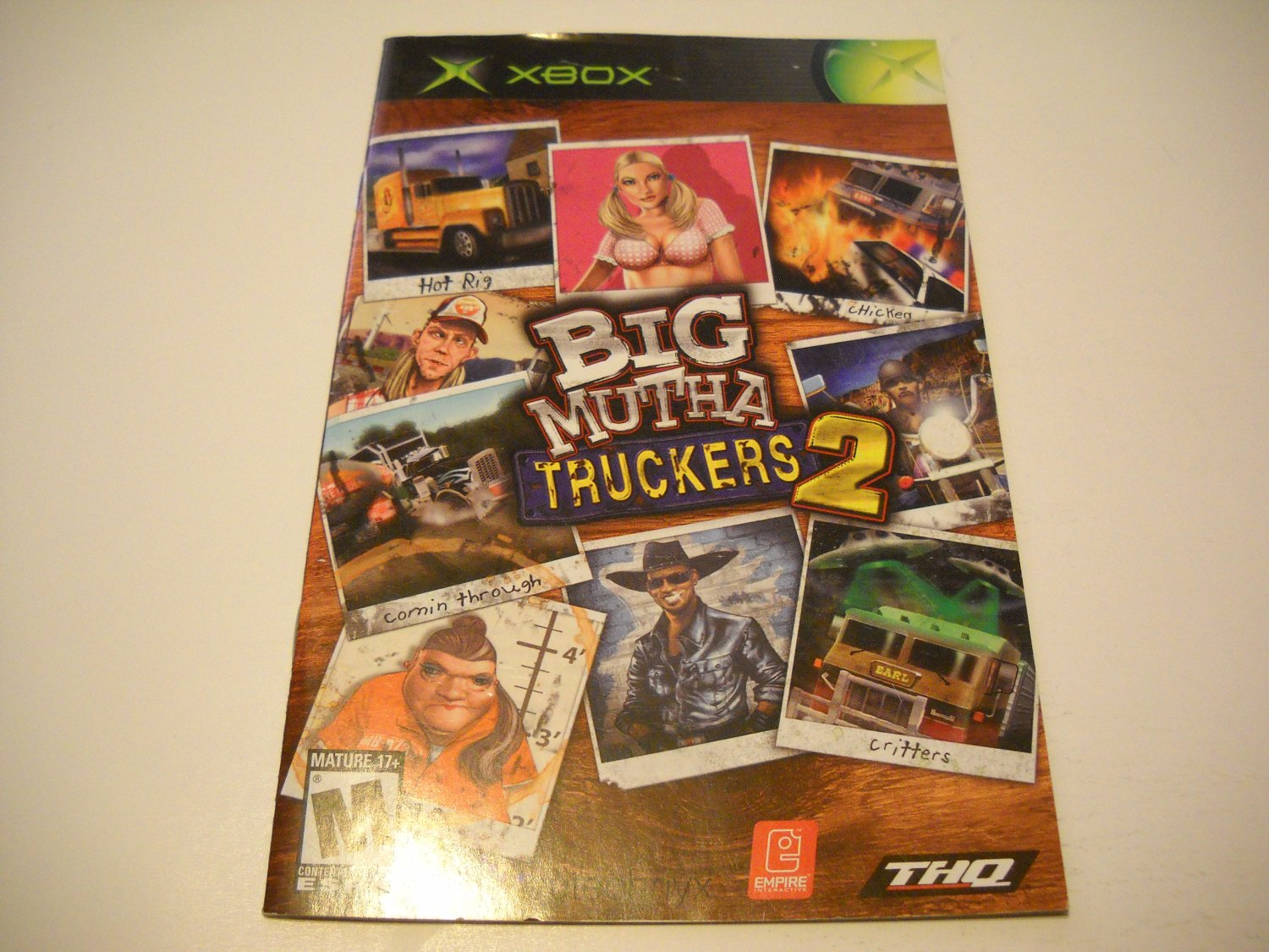 Manual ONLY ~  for Big Mutha Truckers 2   Xbox