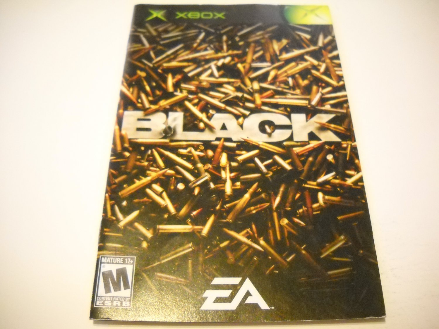 Manual ONLY ~  for Black   Xbox