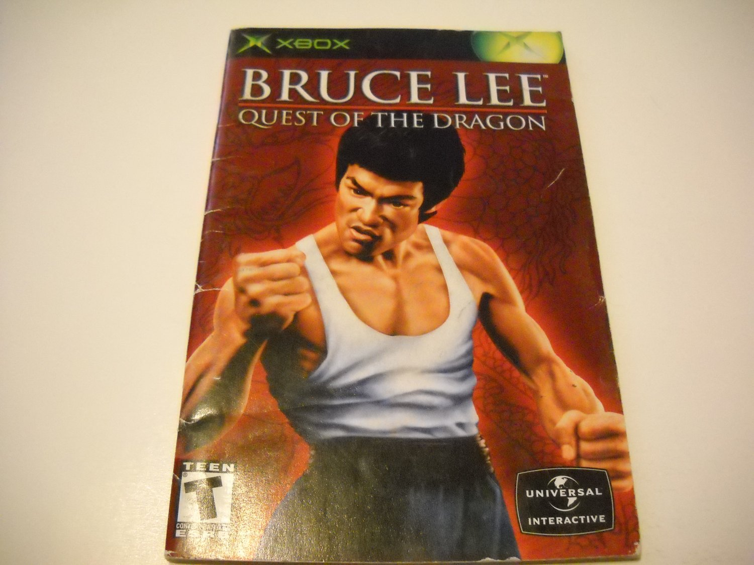 Manual ONLY ~  for Bruce Lee Quest of the Dragon   Xbox