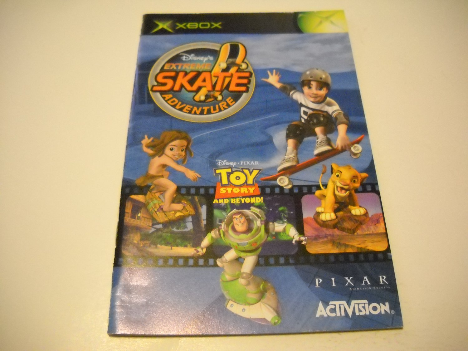 Manual ONLY ~  for Disney's Extreme Skate Adventure   Xbox