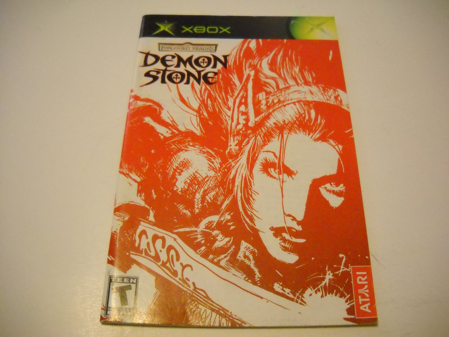 Manual ONLY ~  for Forgotten Realms Demon Stone   Xbox