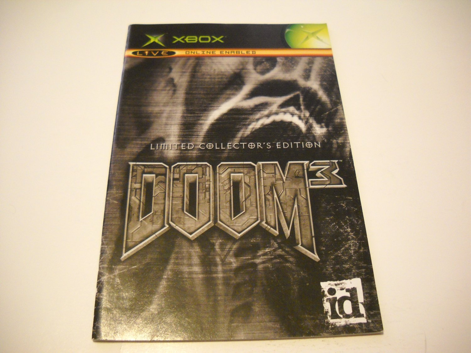 Manual ONLY ~  for Doom 3 Limited Collectors Edition   Xbox