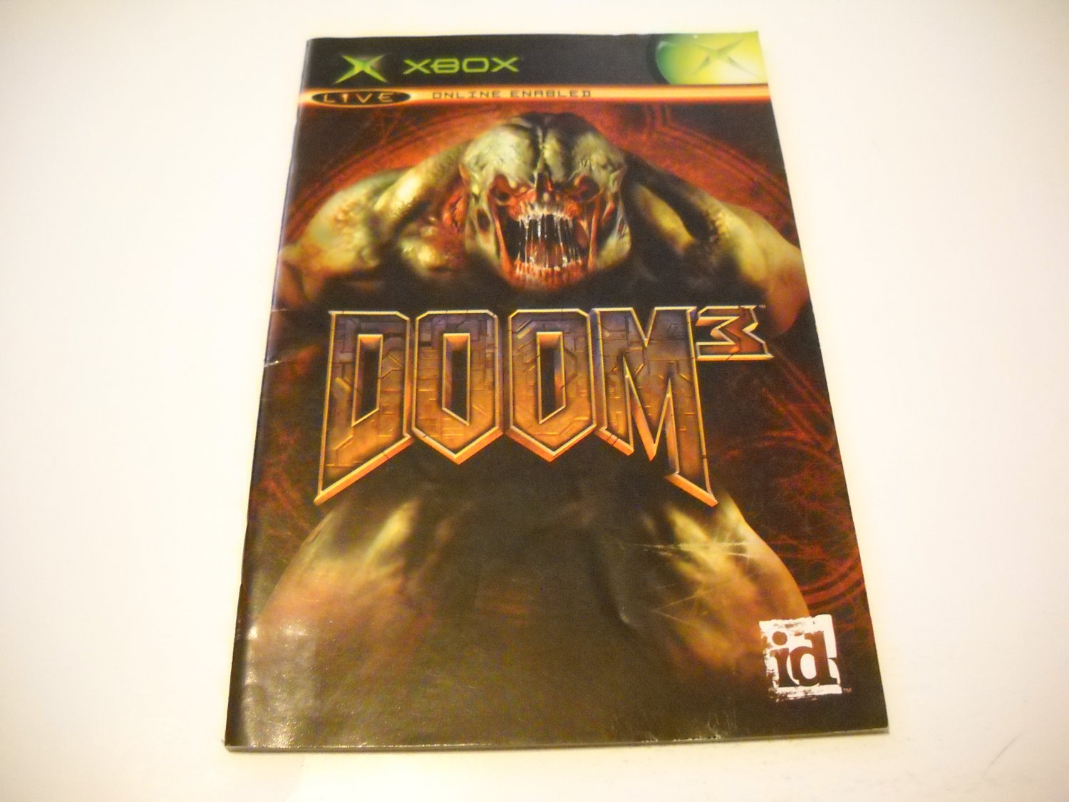 Manual ONLY ~  for Doom 3   Xbox