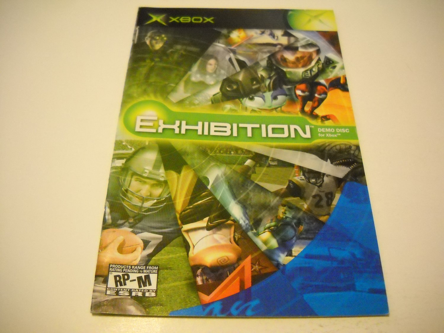 Manual ONLY ~  for Exhibition Demo Disc   Xbox