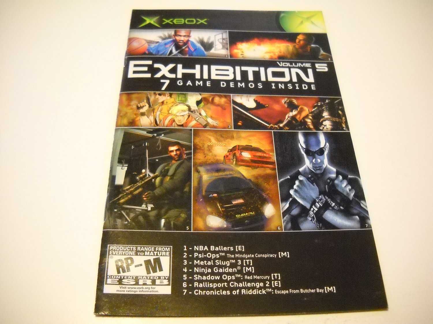 Manual ONLY ~  for Exnibition Volume 5   Xbox