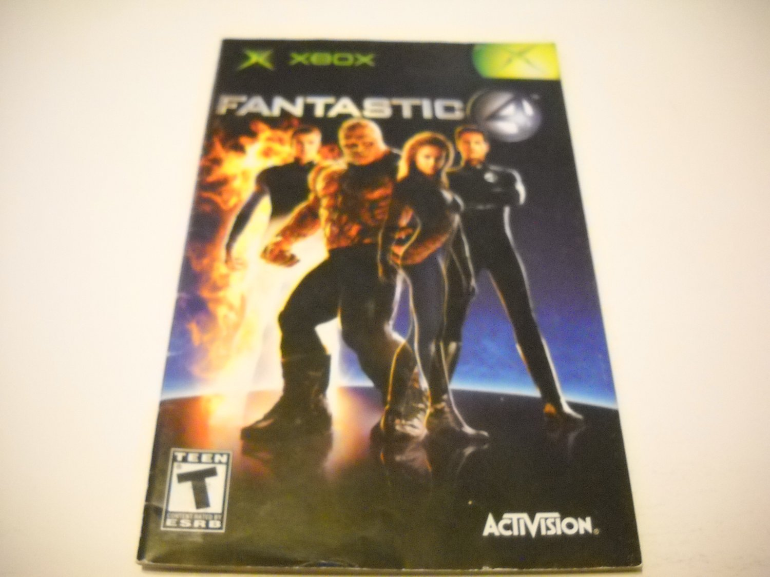 Manual ONLY ~  for Fantastic 4   Xbox