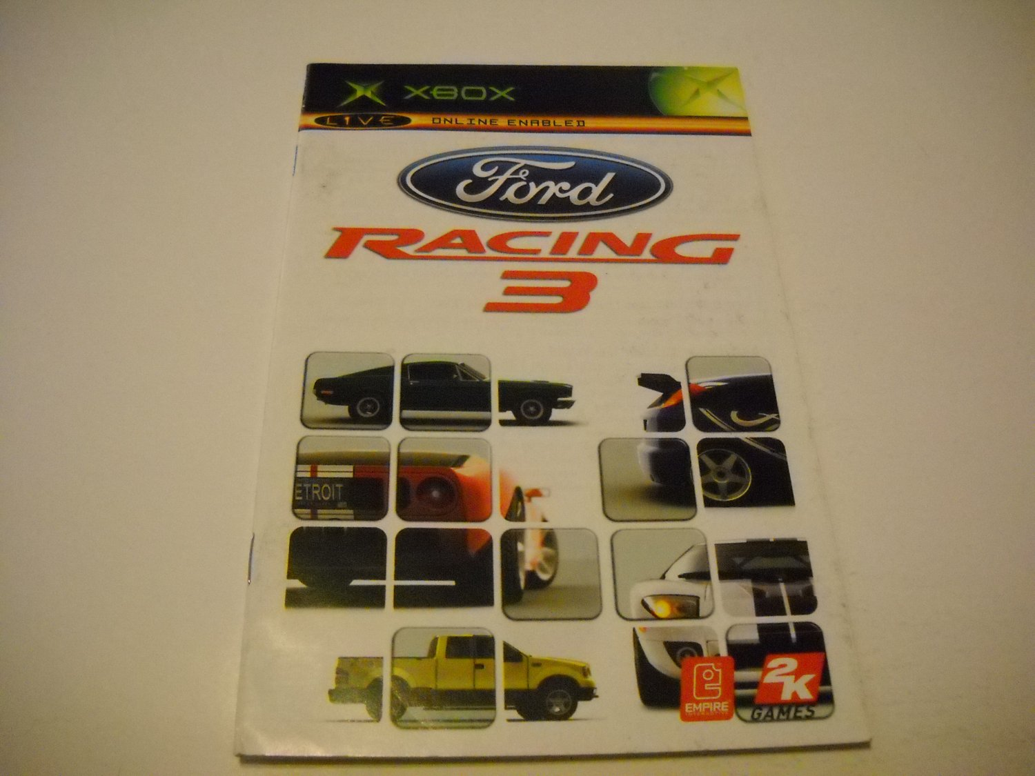 Manual ONLY ~  for Ford Racing 3   Xbox
