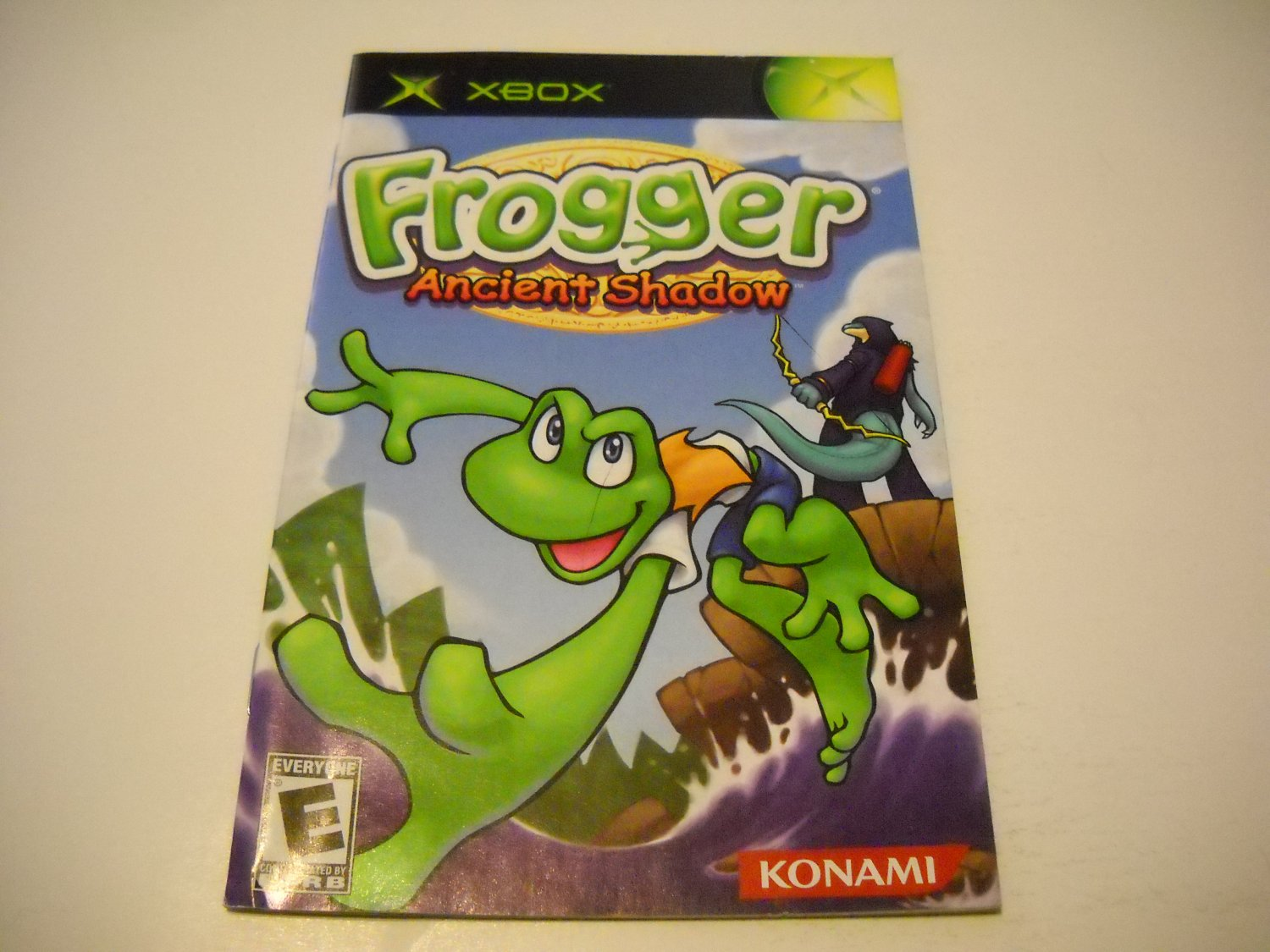 Manual ONLY ~  for Frogger Ancient Shadow   Xbox