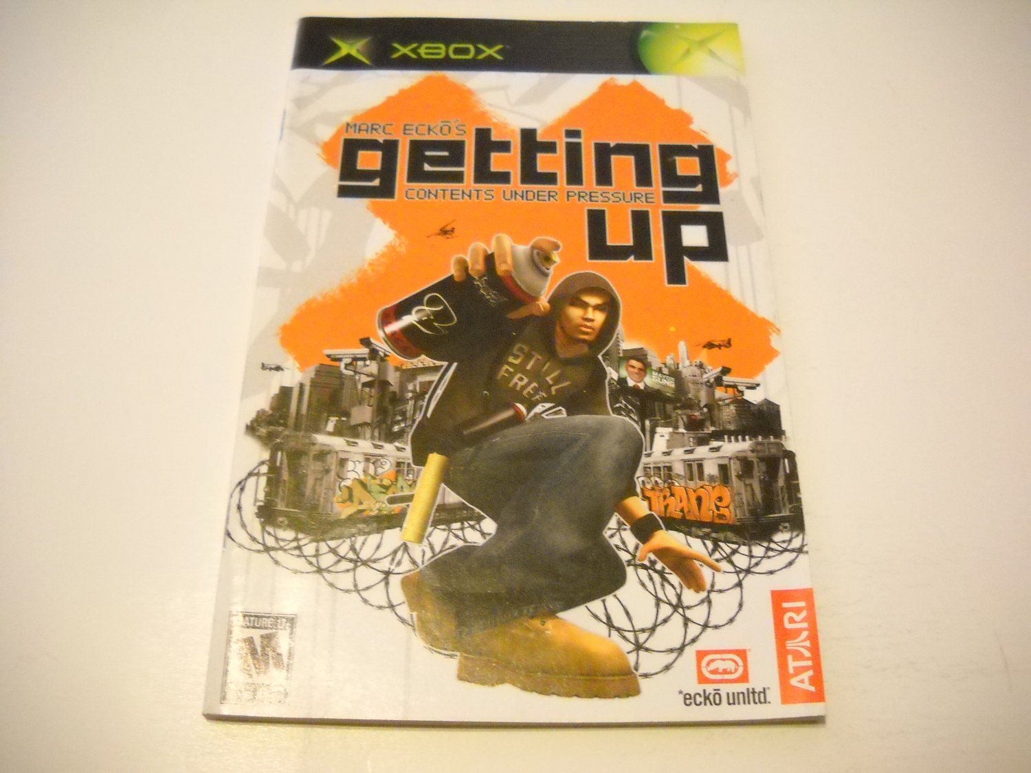 Manual ONLY ~  for Marc Ecko's Getting Up   Xbox