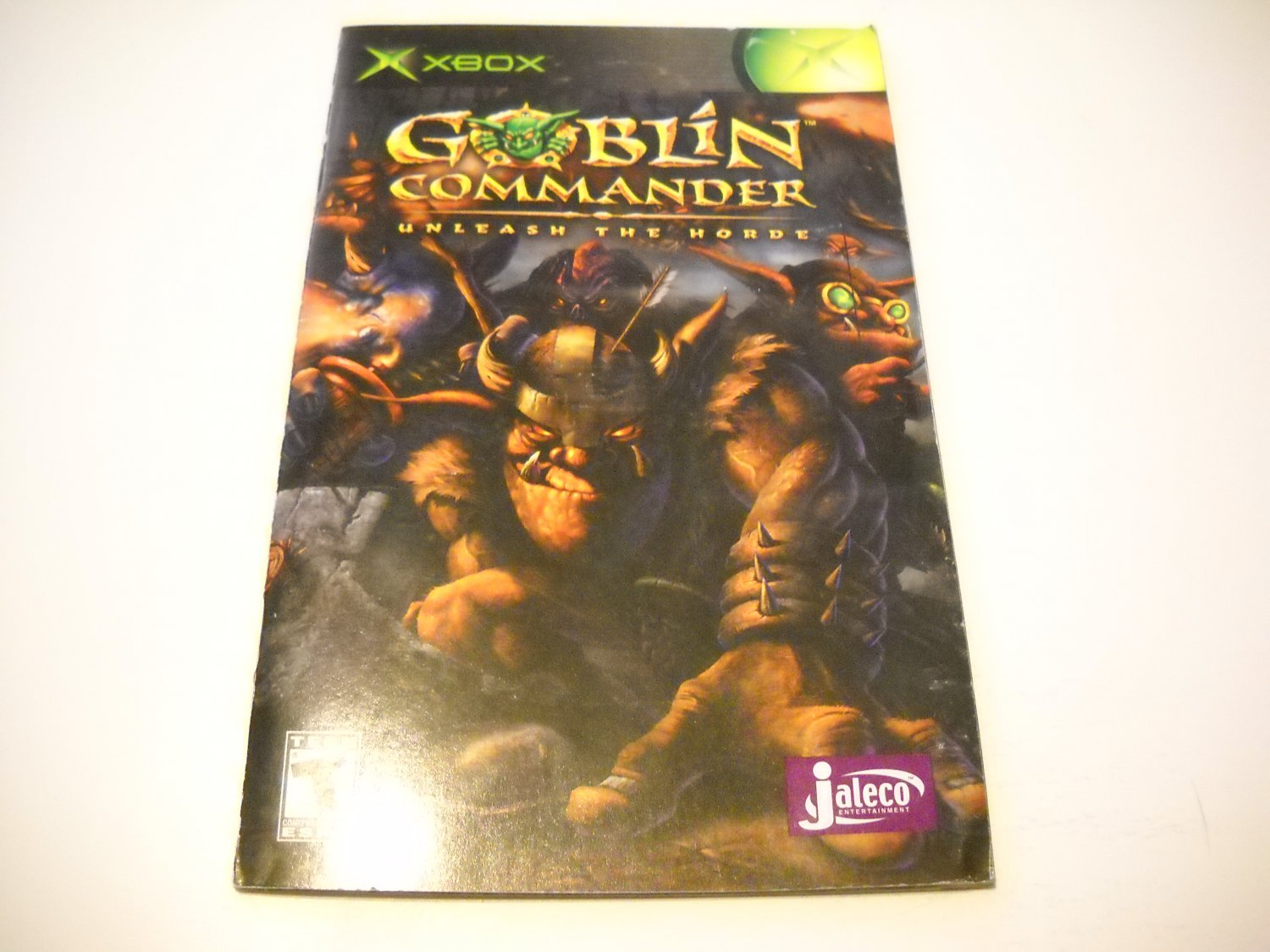 Manual ONLY ~  for Goblin Commander Unleash the Horde   Xbox
