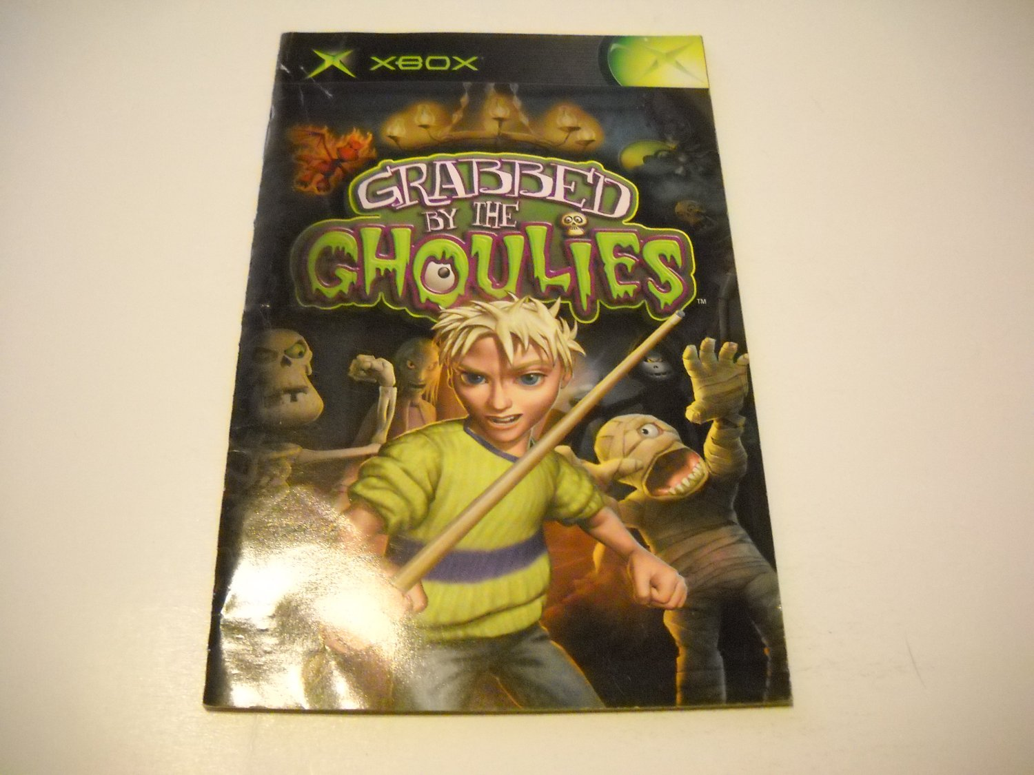 Manual ONLY ~  for Grabbed By The Goulies   Xbox