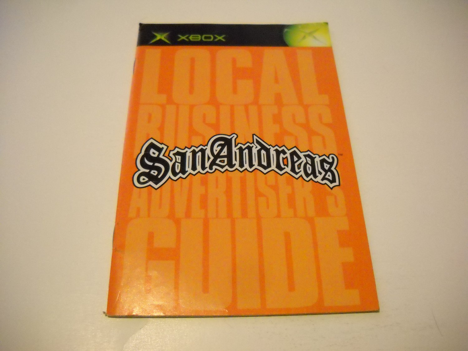 Manual ONLY ~  for Grand Theft Auto San Andreas   Xbox