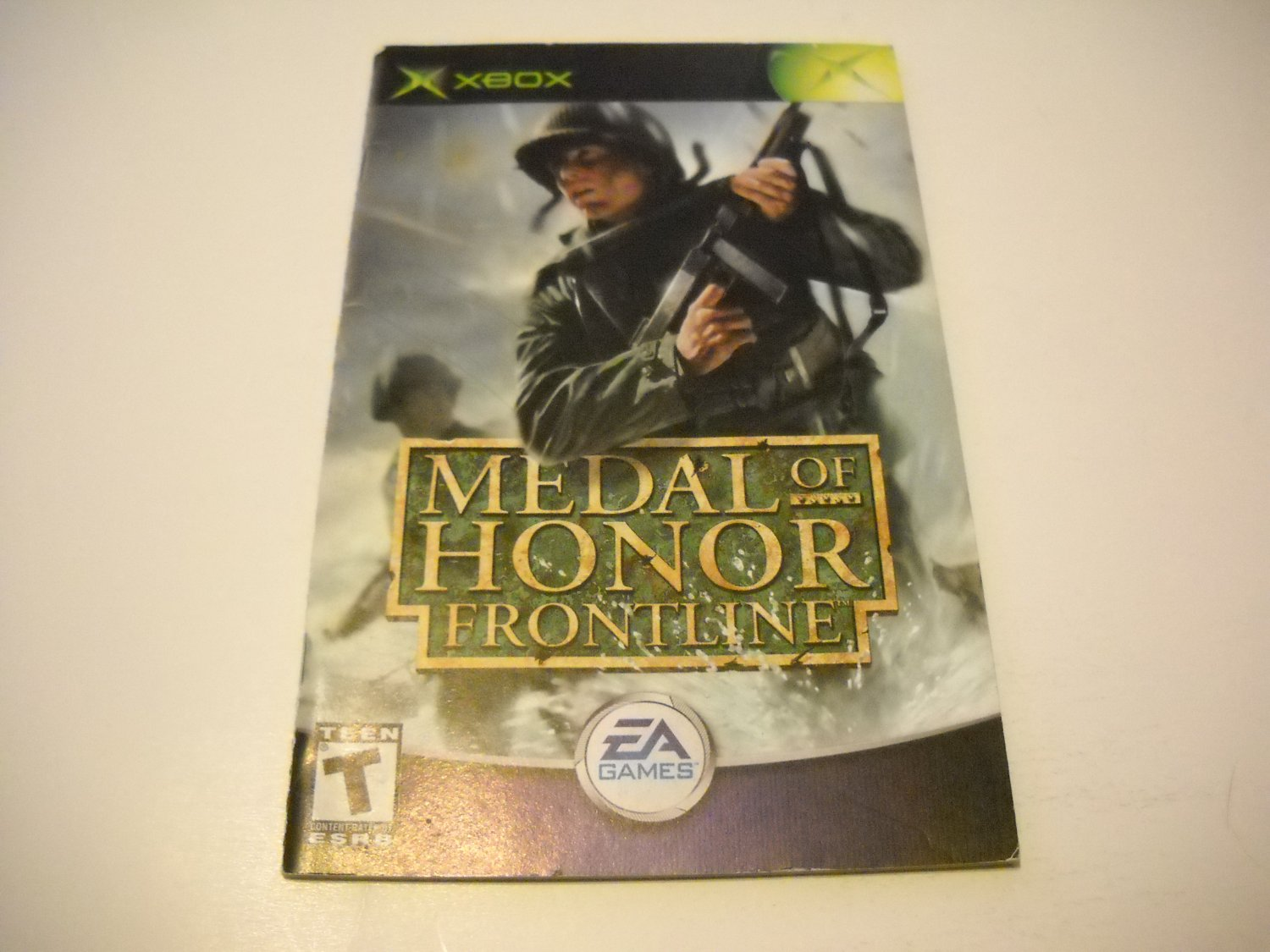 Manual ONLY ~  for Medal of Honor Frontline   Xbox