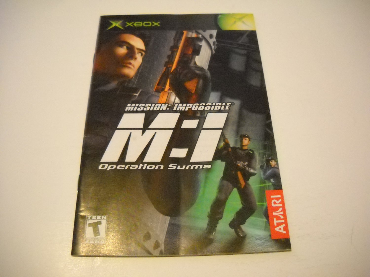 Manual ONLY ~  for Mission Impossible Operation Surma   Xbox