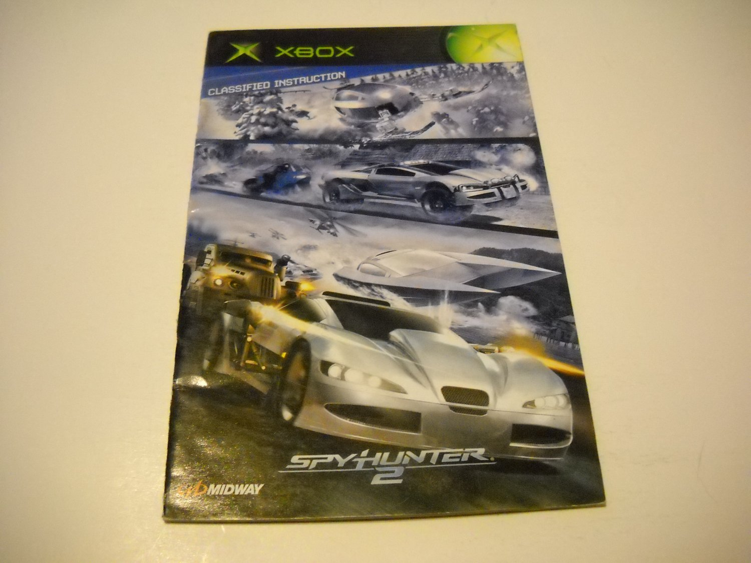 Manual ONLY ~  for Spyhunter 2 Classified Instructions   Xbox