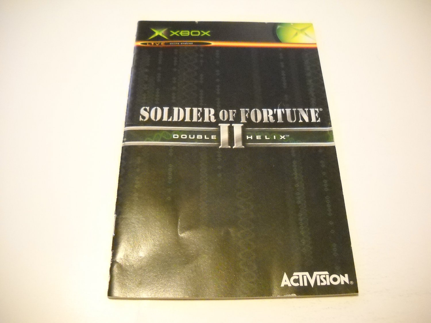 Manual ONLY ~  for Soldier of Fortune II Double Helix   Xbox