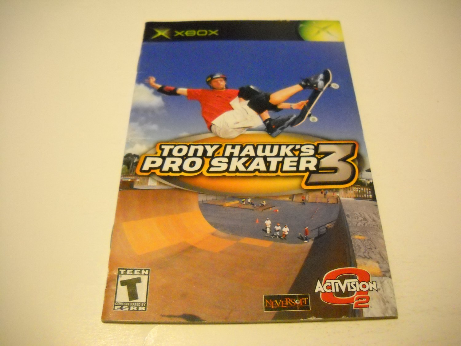 Manual ONLY ~  for Tony Hawk's Pro Skater   Xbox