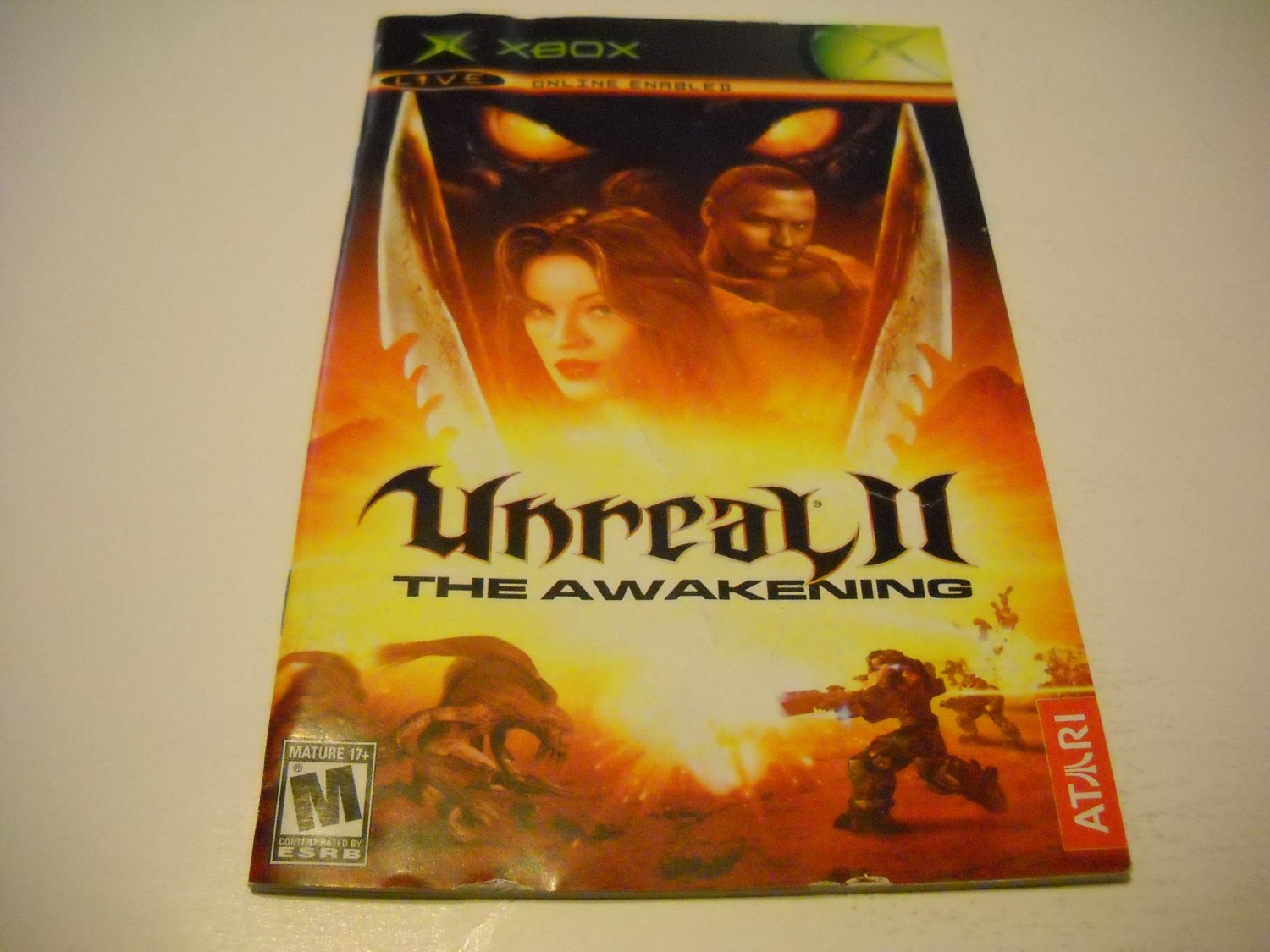 Manual ONLY ~  for Unreal II The Awakening   Xbox