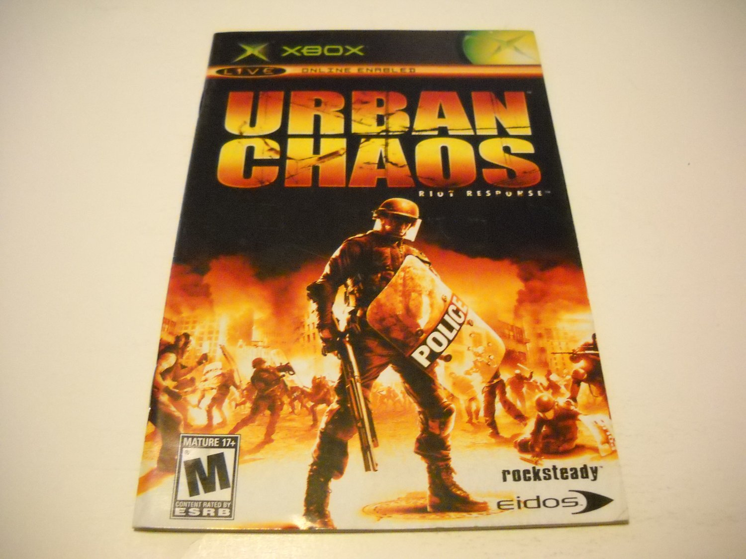 Manual ONLY ~  for Urban Chaos   Xbox