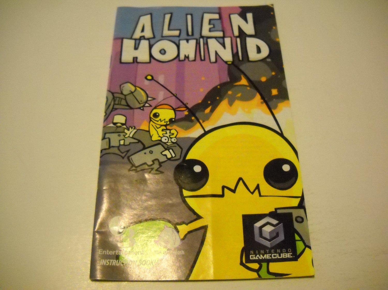 Manual ONLY ~  for Alien Homonid   Gamecube