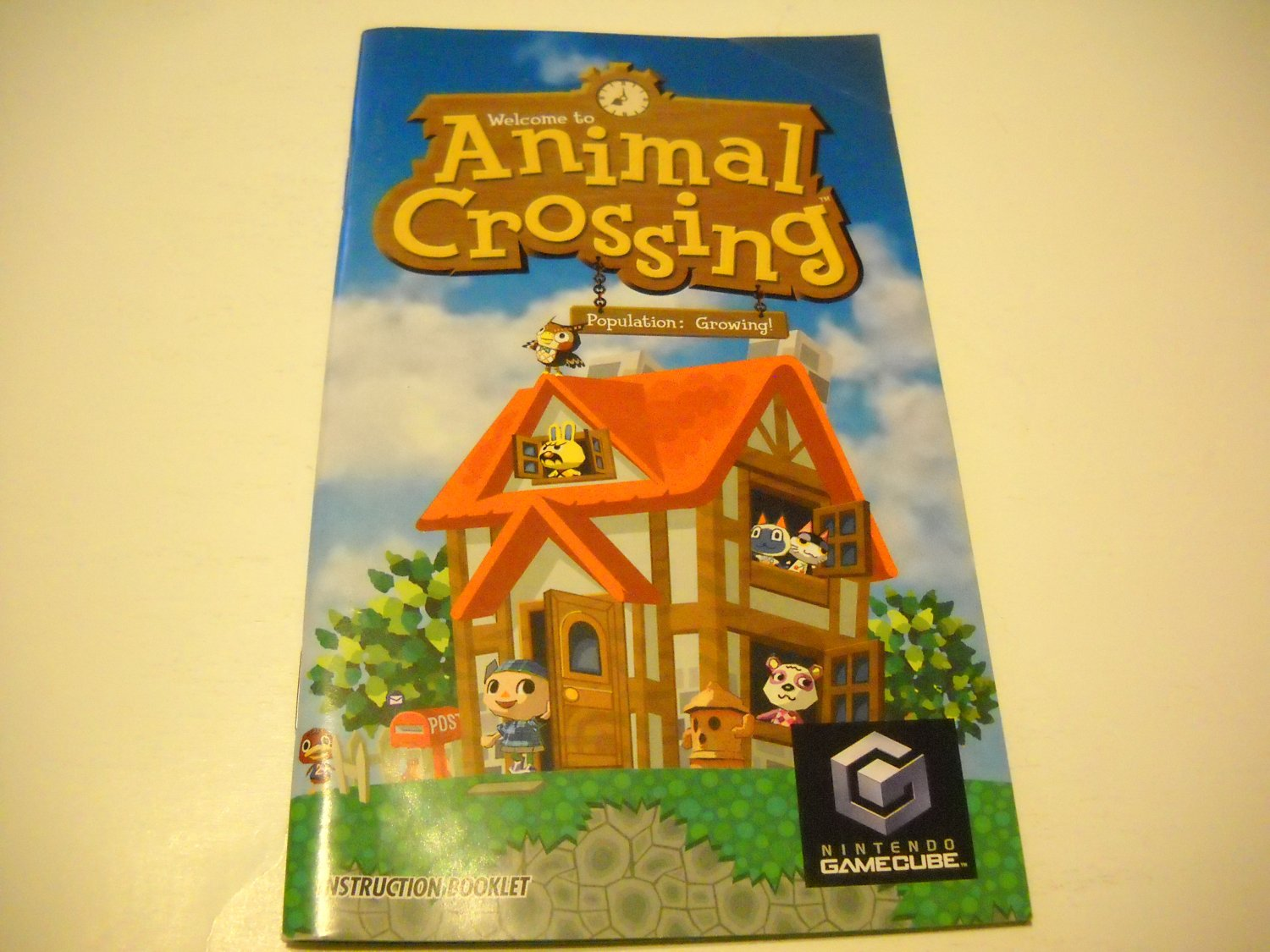 Manual ONLY ~  for Animal Crossing   Gamecube