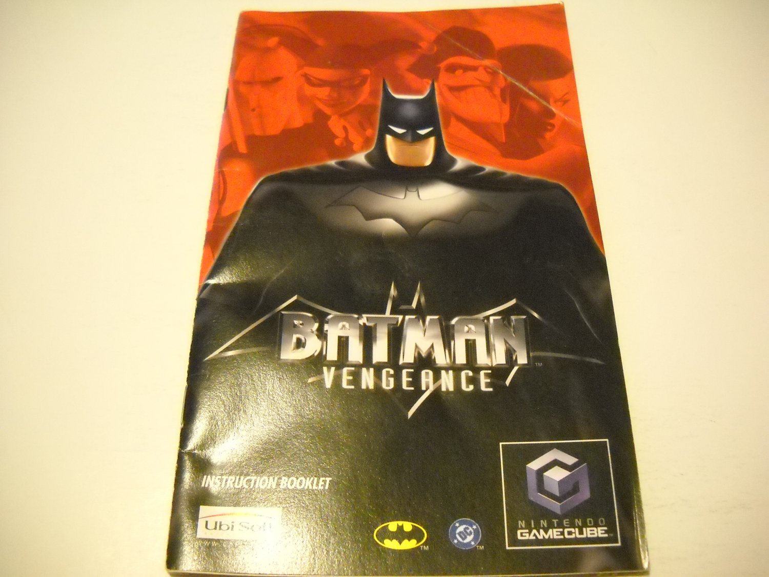 Manual ONLY ~  for Batman Vengance   Gamecube