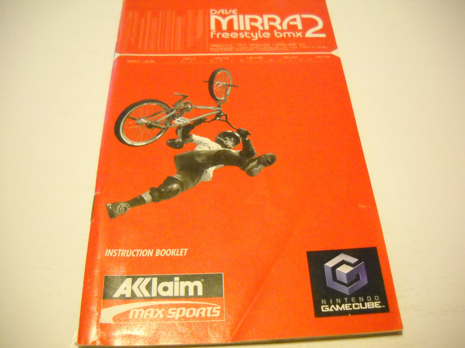 Manual ONLY ~  for Dave Mirra Freestyle bmx 2   Gamecube