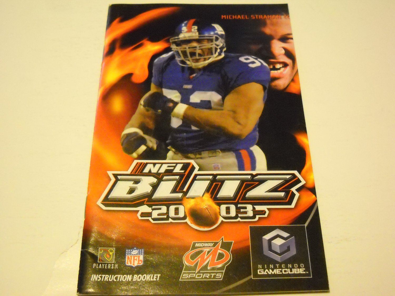 Manual ONLY ~  for NFL Blitz 2003   Gamecube