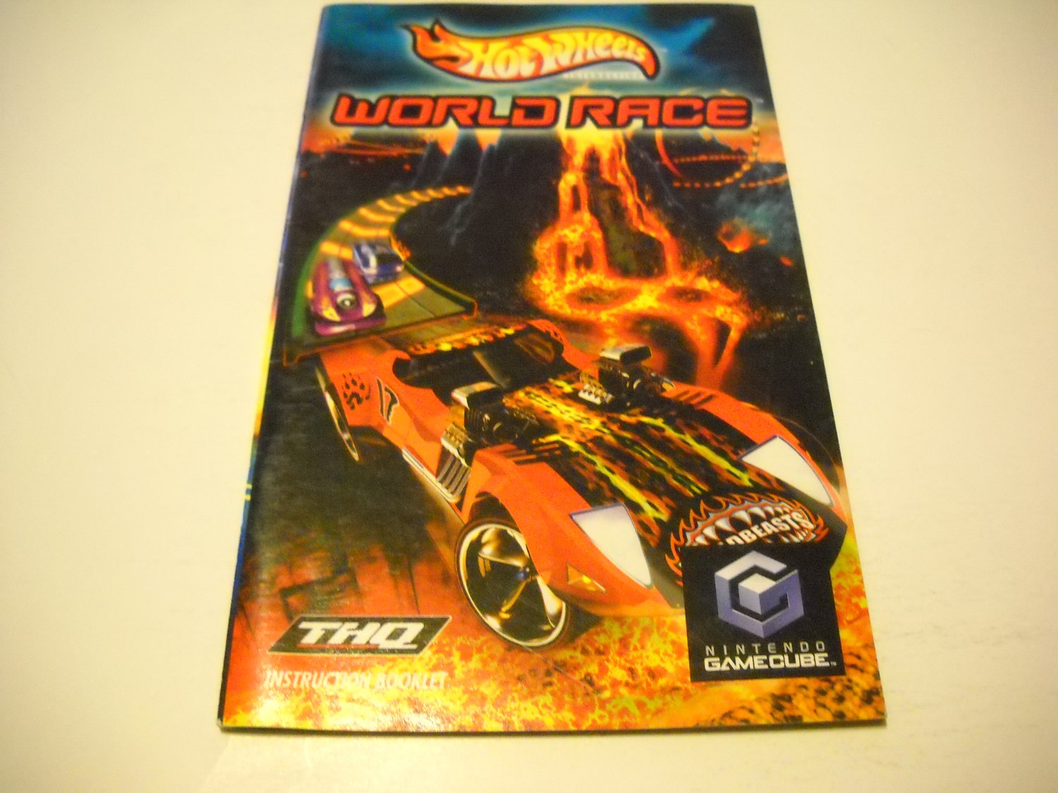 Manual ONLY ~  for Hot Wheels World Race   Gamecube