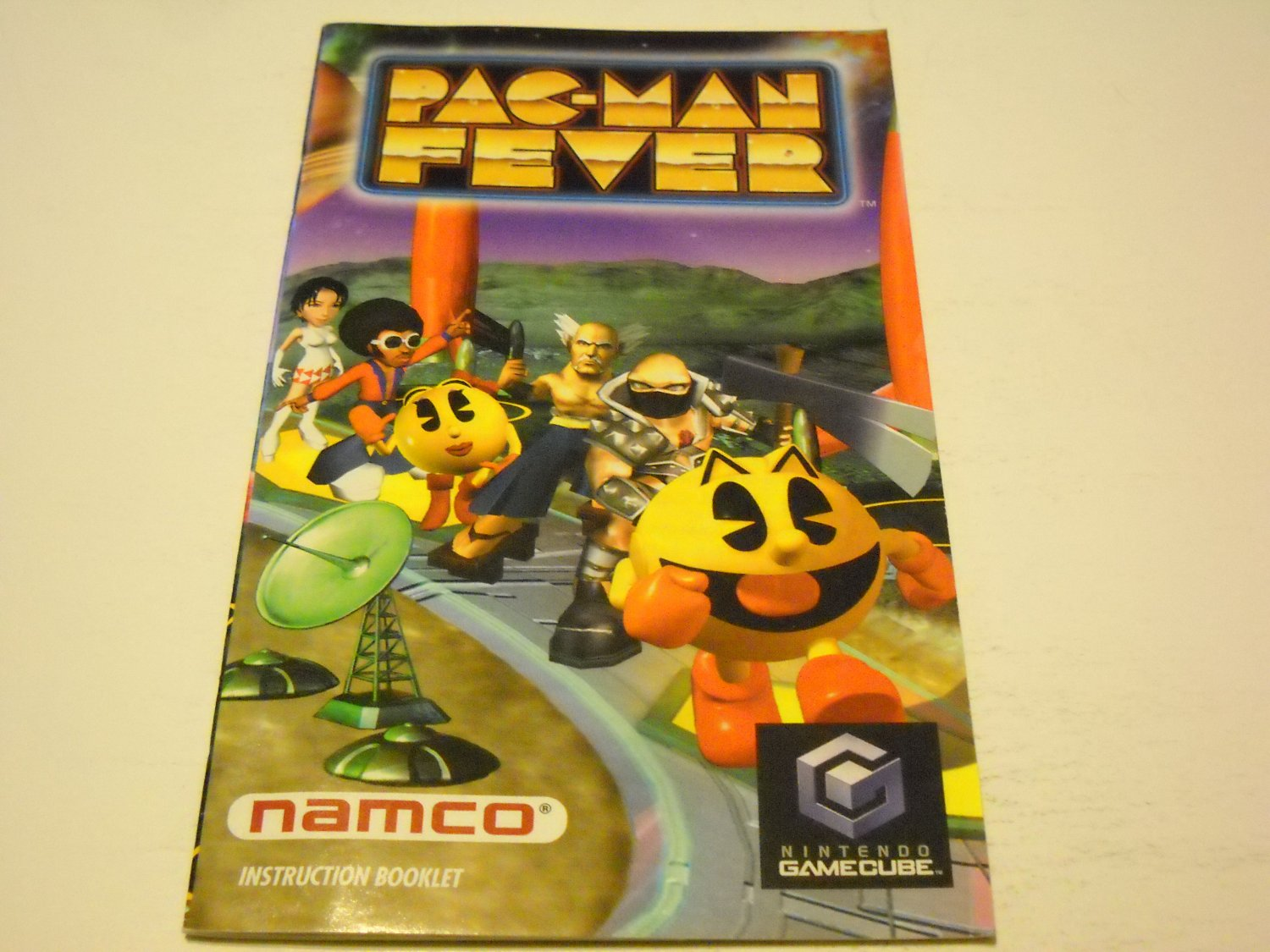 Manual ONLY ~  for Pac-man Fever   Gamecube