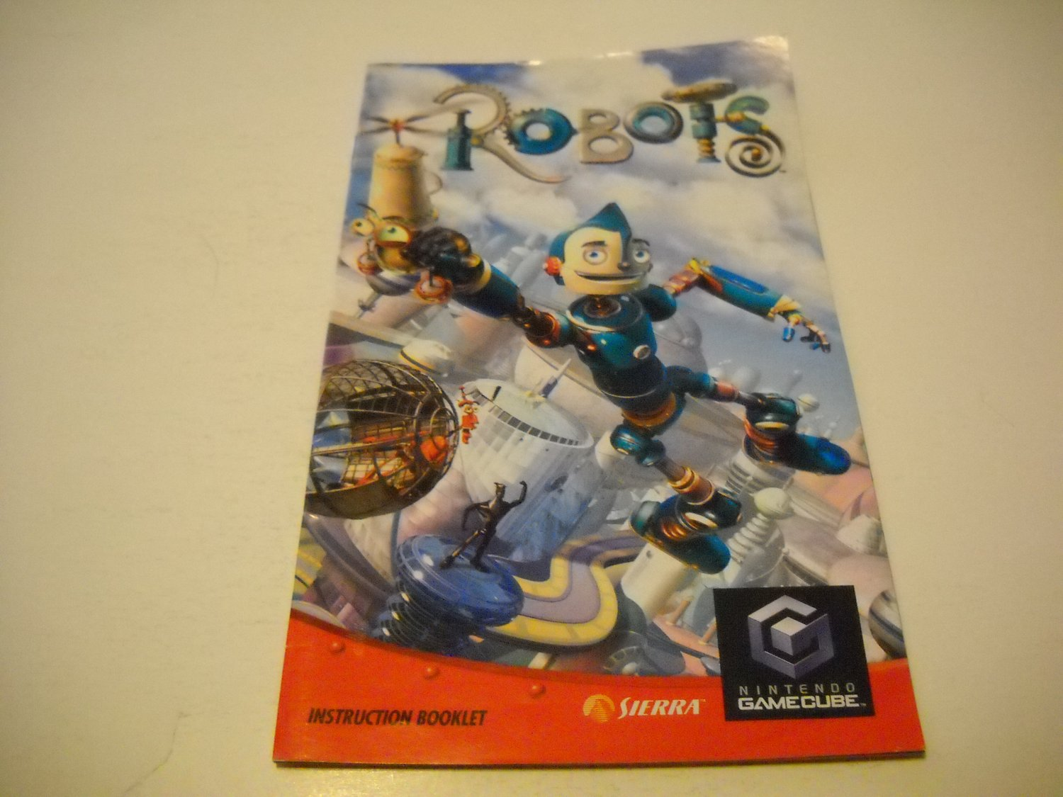 Manual ONLY ~  for Robots   Gamecube