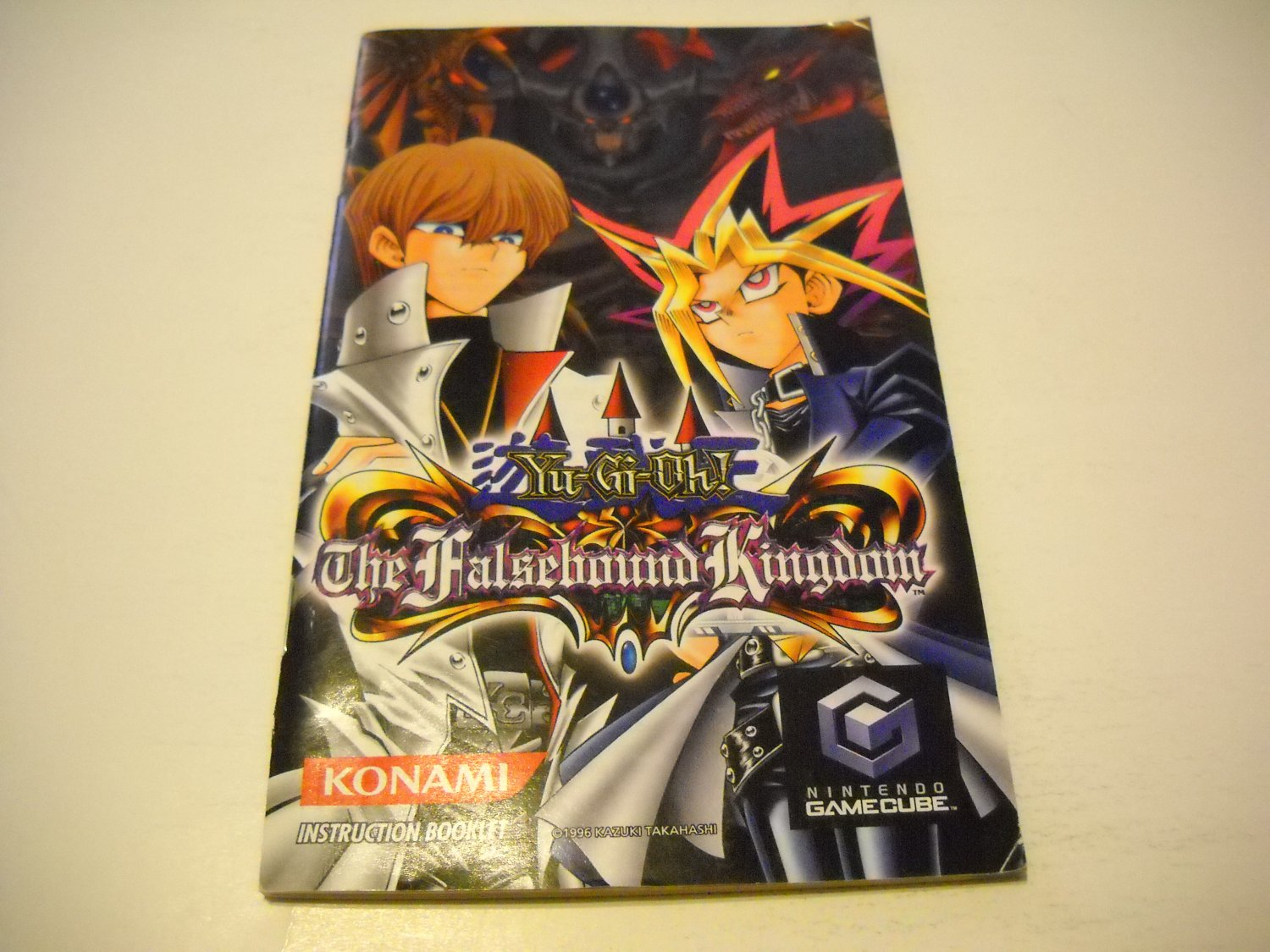 Manual ONLY ~  for Yu-Gi-Oh The Falsebound Kingdom   Gamecube