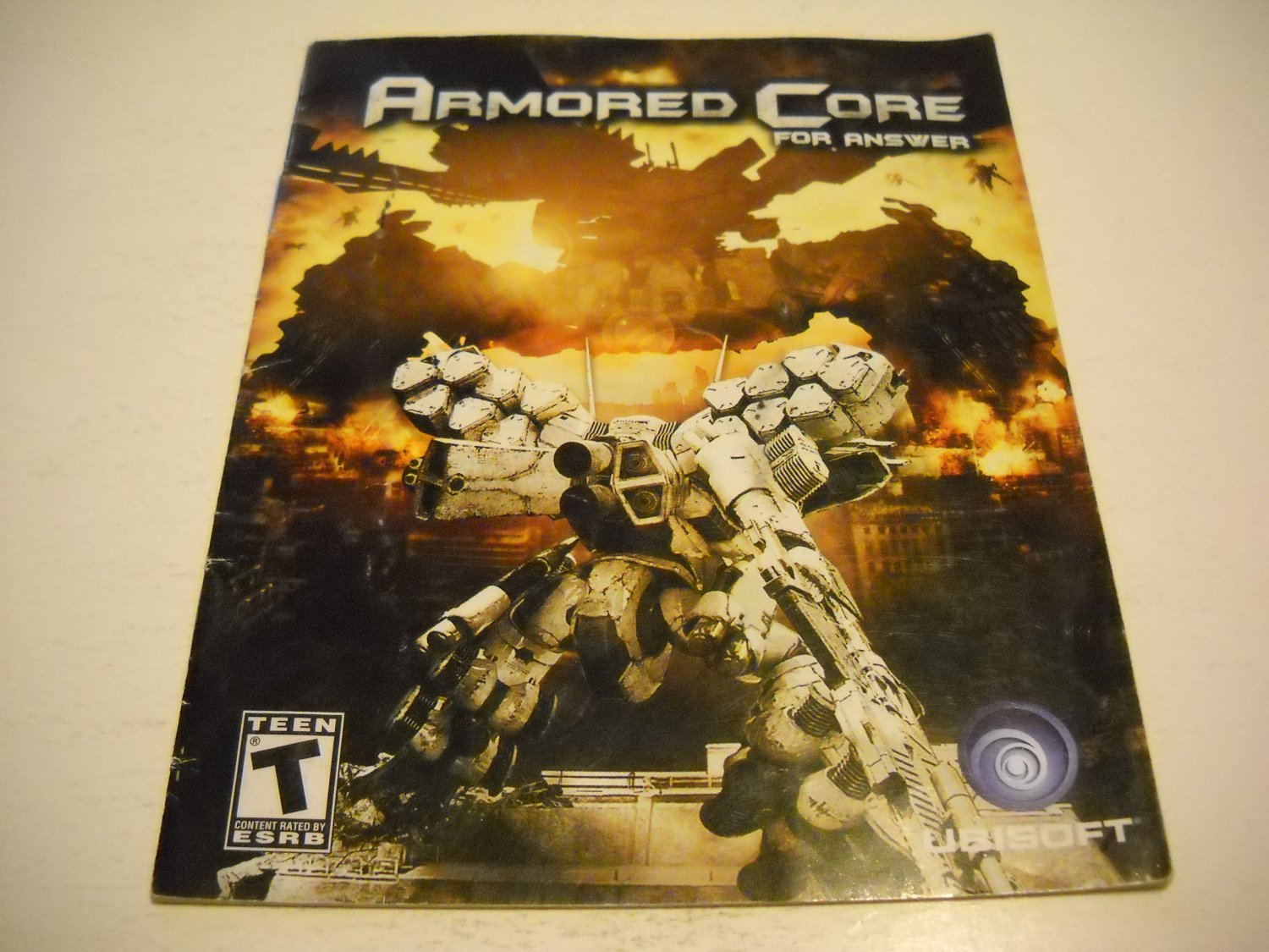 Manual ONLY ~  for Armored Core for Answers , PS3
