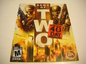 Manual ONLY ~  for Army of Two The 40th Day , PS3