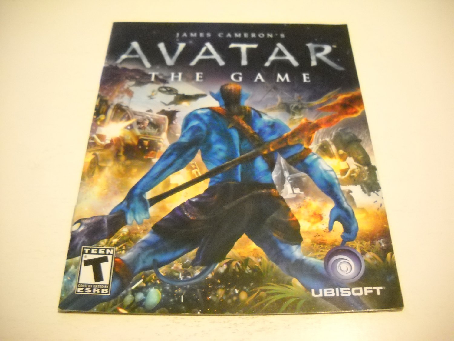 Manual ONLY ~  for Avatar the Game , PS3