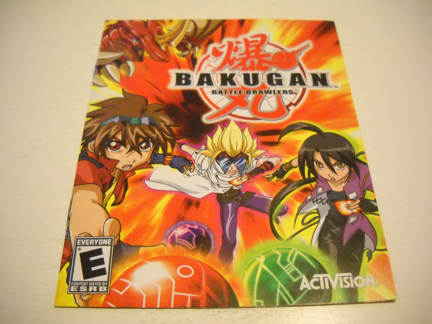 Manual ONLY ~  for Bakugan Battle Brawlers , PS3
