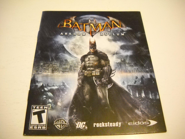 Manual ONLY ~  for Batman Arkum Asylum , PS3