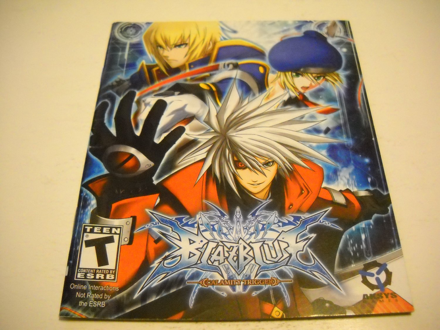 Manual ONLY ~  for Blazblue Calamity Trigger , PS3