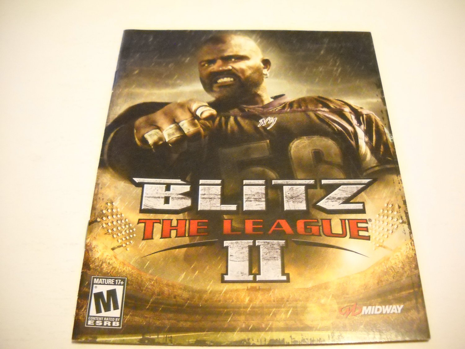 Manual ONLY ~  for Blitz the League II / 2 , PS3