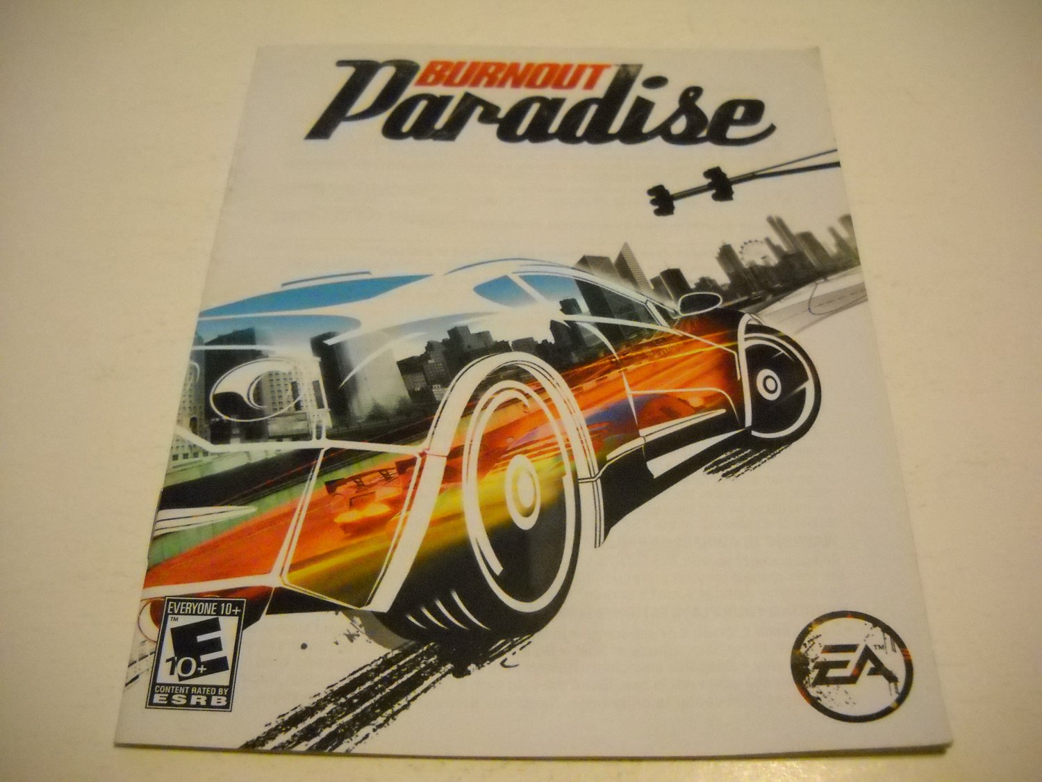 Manual ONLY ~  for Burnout Paradise , PS3