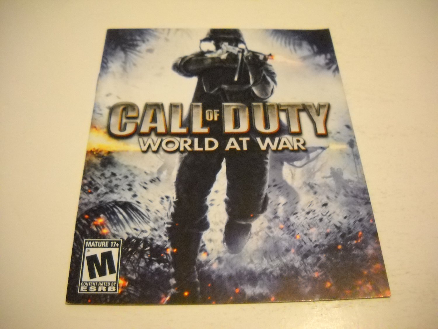 Manual ONLY ~  for Call of Duty World at War , PS3
