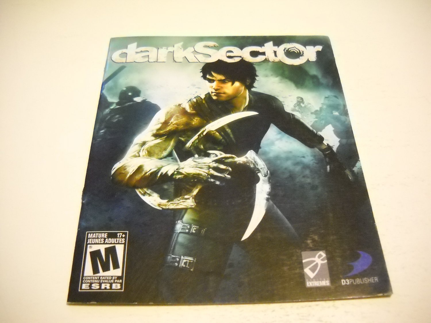 Manual ONLY ~  for Dark Sector , PS3