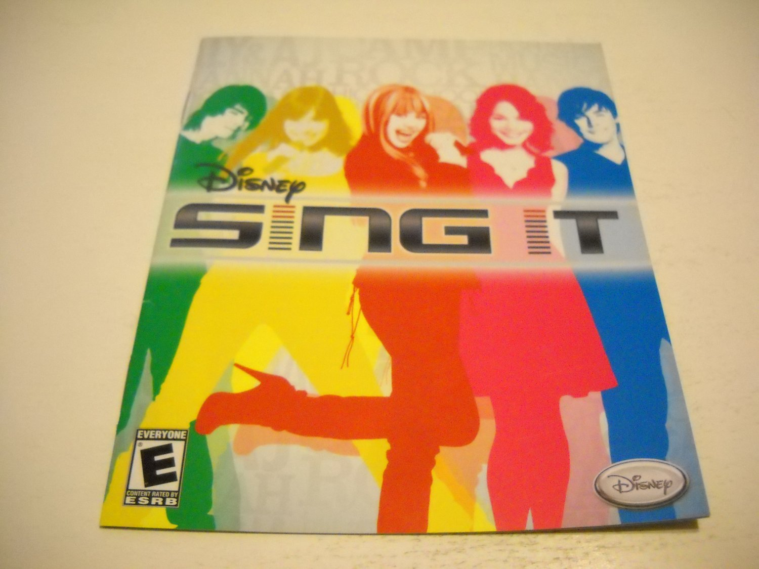 Manual ONLY ~  for Disney Sing It , PS3