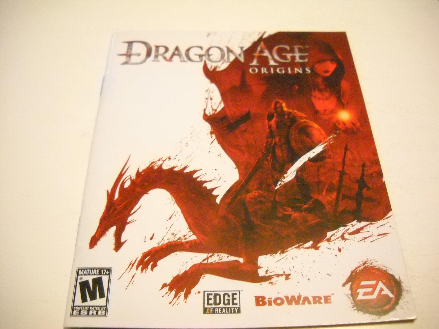 Manual ONLY ~  for Dragon Age Origins , PS3