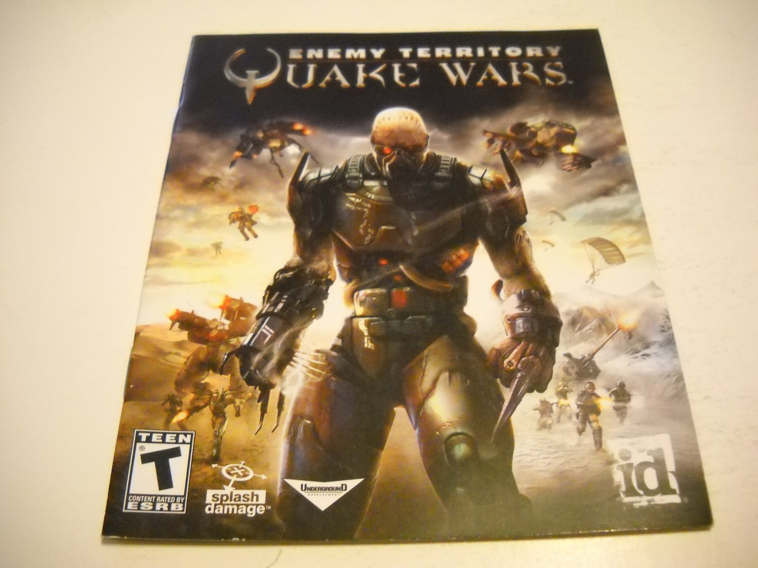 Manual ONLY ~  for Enemy Territory Quake Wars , PS3