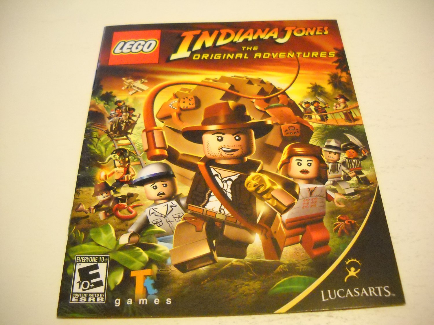 Manual ONLY ~  for Lego Indiana Jones The Original Adventures , PS3