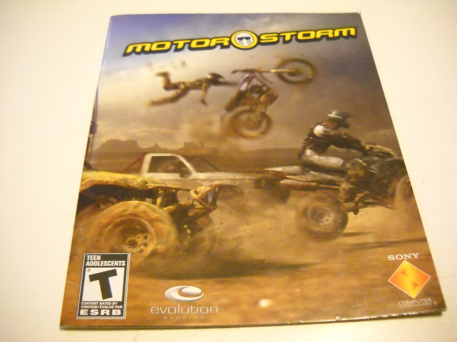 Manual ONLY ~  for Motor Storm in French , PS3